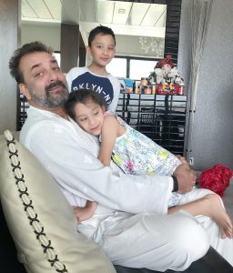 Sanjay dutt in his house with kids