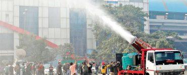 Anti Smog Guns in action