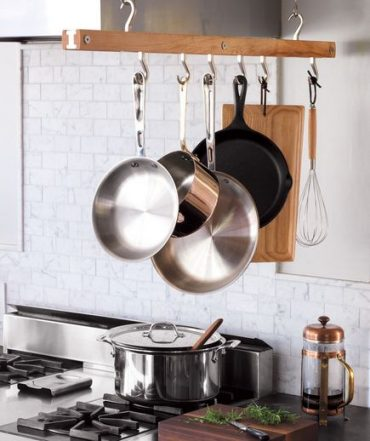 Pan hanging in kitchen - home decor