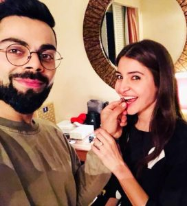 Virat and anushka in their house